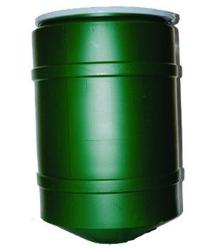 32 Gallon Conical Poly Barrel