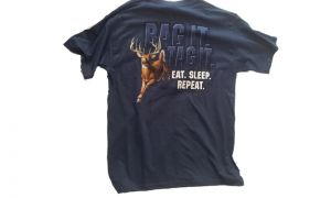 Hunt eat sleep repeat t-shirt