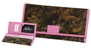Pink Trimmed Clutch Wallet