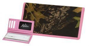 Pink Trimmed Checkbook Wallet