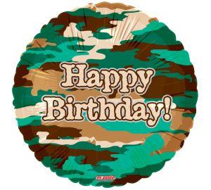 Camo Birthday Balloon