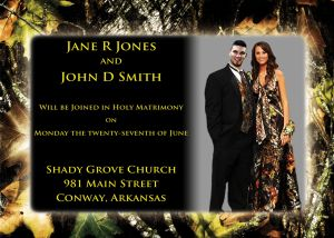 Camouflage Wedding Invitations-Outside