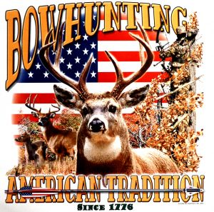 Bow Hunting American Tradition T Shirt