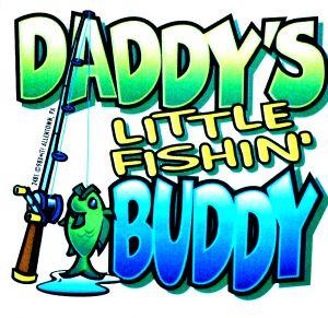 Daddy's Little Fishing Buddy T Shirt