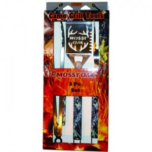 Camo Grill Tools - Mossy Oak 3 Piece Set