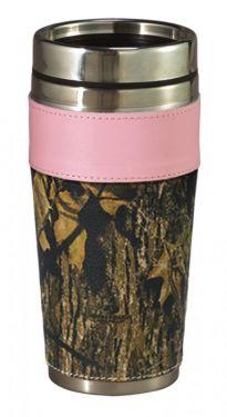 Pink Trim Camo Travel Mug