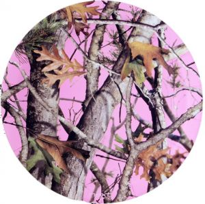 Pink Camo Paper Plates - Large