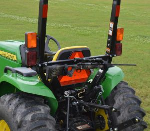 TRACTOR & MOWER TAG-ALONG RACK