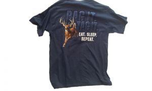 Hunt eat sleep repeat t-shirt