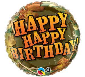 Camo Happy Birthday Balloon