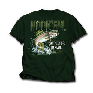 Hook 'em! Eat. Sleep. Repeat T Shirt