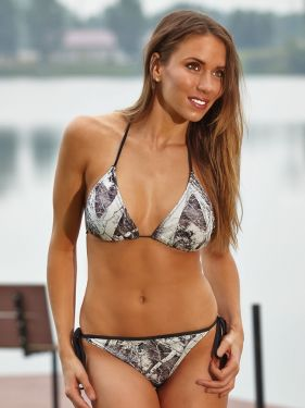 Naked North® Snow String Bikini Top