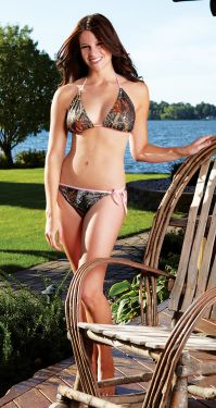 Mossy Oak Pink String Bikini Top