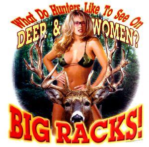 Deer and Women Camo Bra T Shirt