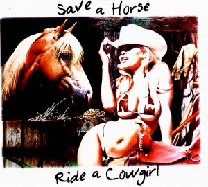 Save a Horse Ride a Cowgirl Adult T Shirt