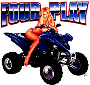 Four Play ATV T Shirt
