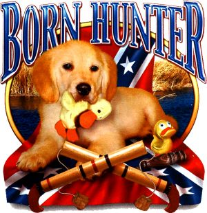 Born Hunter Kids T Shirt