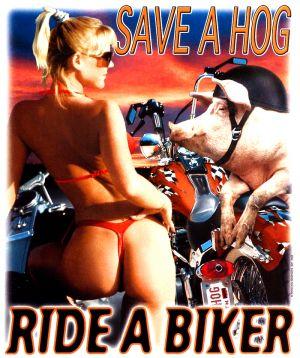 Save a Hog Ride a Biker T Shirt