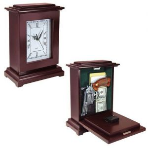 Tall Rectangular Clock - Gun Storage