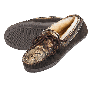 Camo Leather Slippers