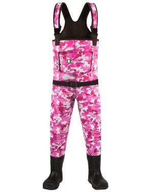 Girl's Pink Camo Waders