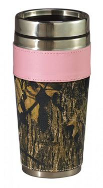 Pink Trim Camo Travel Mug