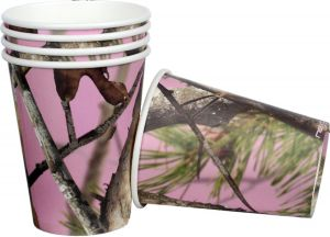 Pink Camo Cups